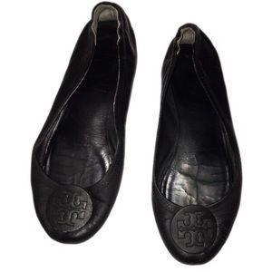 Tory Burch 8.5 black leather flats